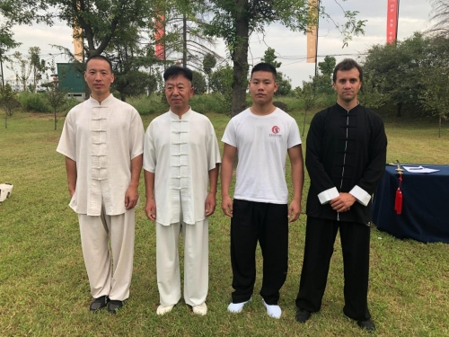 Con Maestro e instructores de Taiji