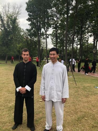 Con el Maestro Chen Bing