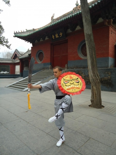 En la Puerta del Templo Shaolin